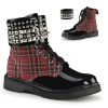 RIVAL-106 Red Plaid/Patent